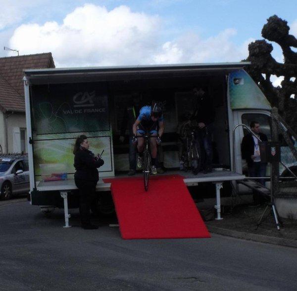 Blois(41).7e édition de la Route d'Eole.Nationale Juniors 1.14.1.2° Etape CLM individuel - Feings - Fougères-sur-Bièvre 13,5 km. Dimanche 27 mars 2016
