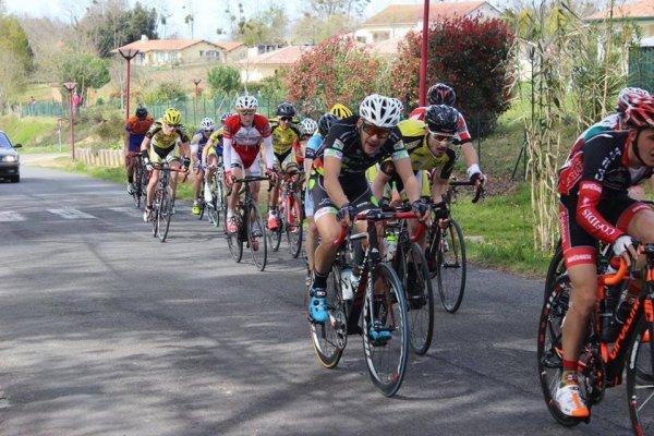 Dax (40).94° édition Circuit de la Chalosse.Dax - Castelnau Chalosse 104 km.2.3.J.PCO. Lundi 28 mars 2016
