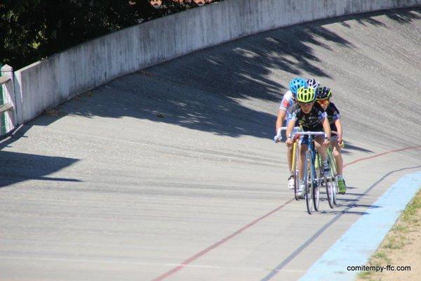 Classement complet Villemur(31).Vélodrome.Championnat Midi-Pyrénées de Scratch & Elimination Benjamins. Jeudi 5 mai 2016