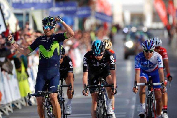 Malaga(Esp).Ruta del Sol UCI 2 HC. 1° étape Rincon de la Victoria-Malaga 155 km.Mercredi 15 février 2017