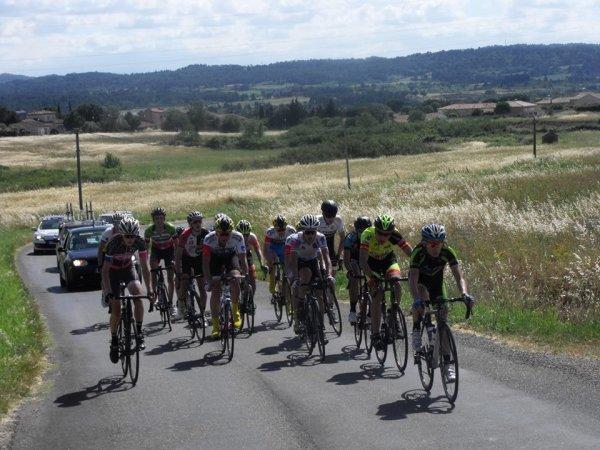 Trèbes(11).Championnat Midi-Pyrénées de l'Avenir Juniors 105 km.Championnat Régional du Languedoc-Roussillon et de Midi-Pyrénées Juniors.Lundi 5 juin 2017