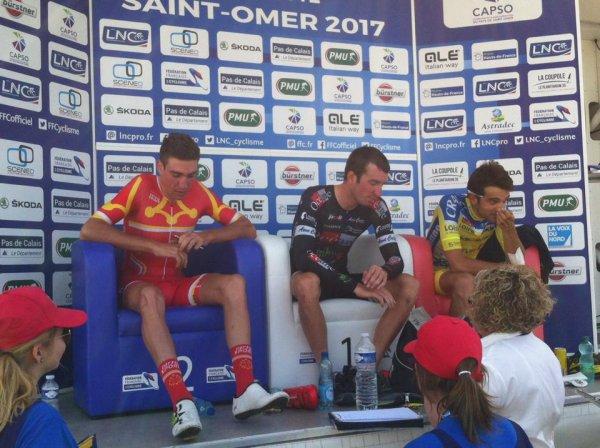 St Omer(62). Championnat de France Clm indi Élites 51 km. Jeudi 22 juin 2017