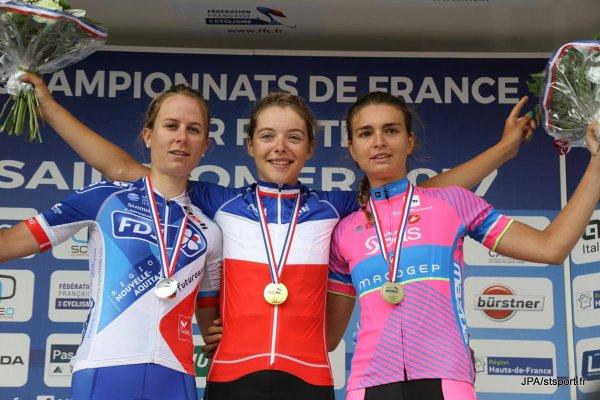 Saint-Omer(62).Championnat de France route Elite et espoirs Dames 108,5 km.Samedi 24 Juin 2017