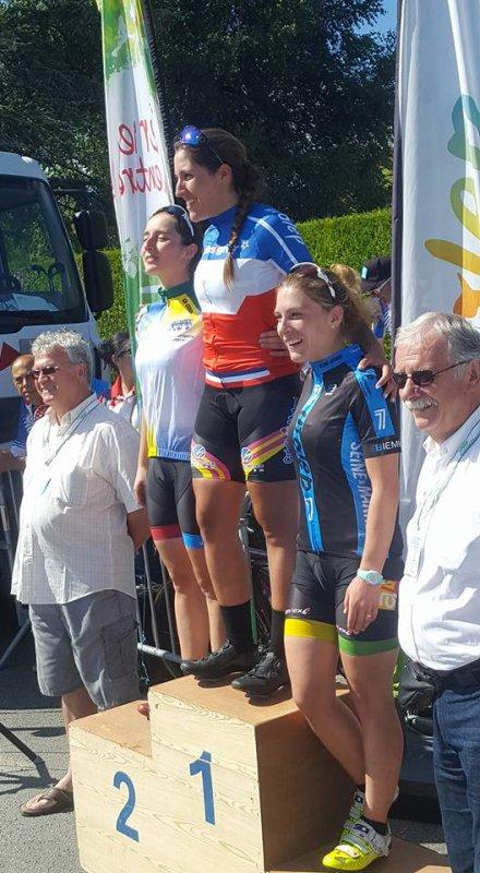 Saint sulpice le guéretois(23).Championnat National UFOLEP Route Féminines 17- 29 ans. 30-39 ans. 40 +. Samedi 15 juillet 2017