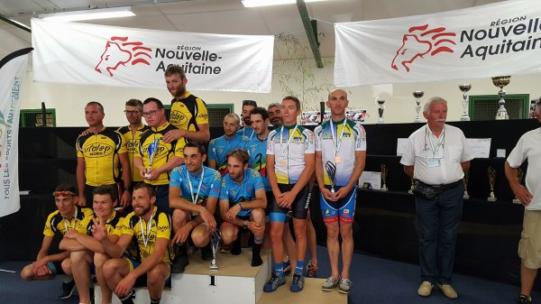 Saint Sulpice le Guérétois(23). Championnat National Cyclosport UFOLEP Route Masculins.17- 29 ans. 30-39 ans. 40-49 ans. 50-59 ans. 60 ans et +.Dimanche 16  juillet 2017
