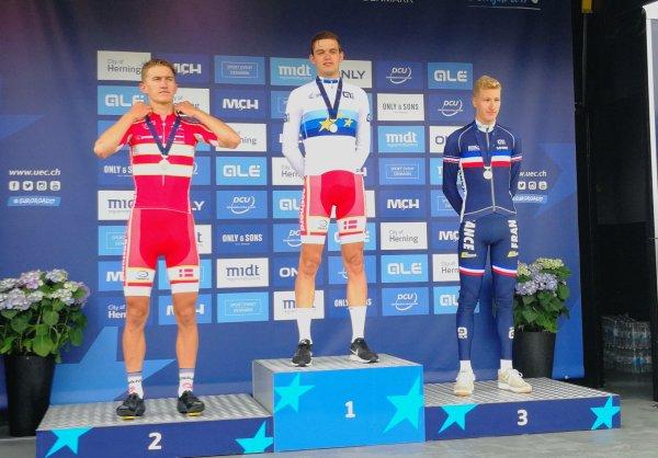 Herning(Danemark)Championnat d'Europe CLM Espoirs Hommes 31.5 km.Jeudi 3 août 2017