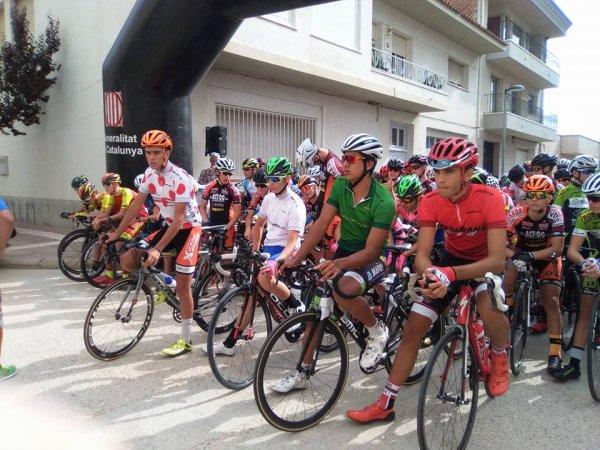 Caspe(Esp).XXXIV Vuelta Al Bajo Aragon Cadets. 4° étape Nonaspe – Caspe 62 km.Mardi 8 août 2017