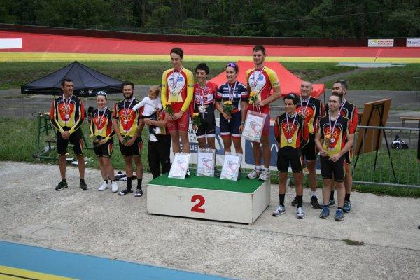 Foix(09).Journée Championnat MPY des Comités Départementaux vitesse et poursuite.40ème Trophée Occitanie Hugues DEVILLERS PISTE.Samedi 16 septembre 2017