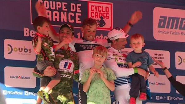 Besançon(25).Coupe de France de cyclo-cross dans la catégorie Elites.Classement Général après la 1ère manche