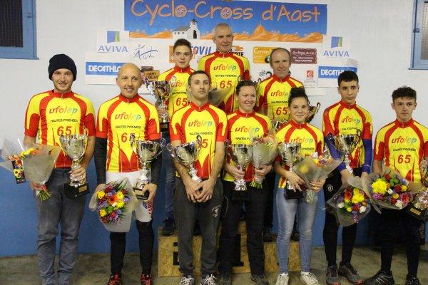 AAST(65).Cyclo Cross Championnat des Hautes-Pyrénées UFOLEP.Dimanche 10 Décembre 2017