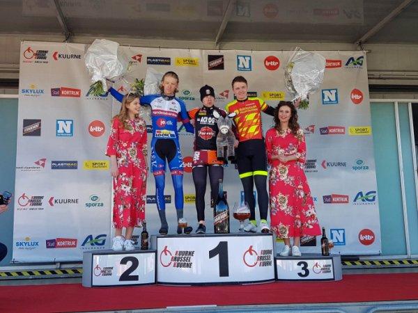 Kuurne(Bel).Kuurne-Brussel-Kuurne Juniors UCI MJ 1.1.Kuurne-Brussel-Kuurne 121 km.Dimanche 25 février 2018