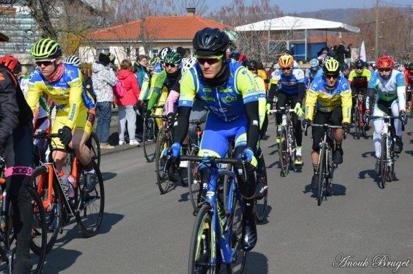Cébazat(63).Prologue du Circuit de la Vallée du Bédat. 3ème catégorie et Juniors.Dimanche 25 février 2018