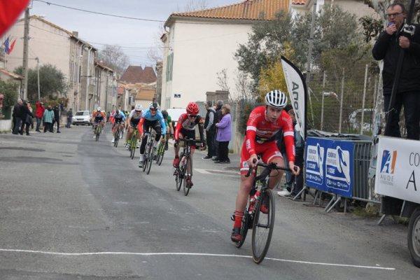 Armissan(11).Grand Prix Cycliste d'Armissan. 2ème/3ème/Jun/PCO.Dimanche 4 mars 2018