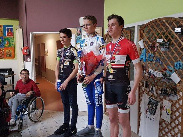 FONNEUVE(82).10ème Trophée de la Vitarelle.Souvenir Maurice Malbreil.Cadets + Dames J/S 58 km.Samedi 10 mars 2018
