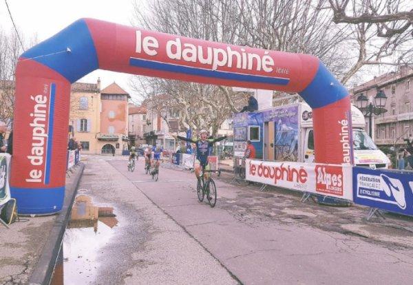 Aubenas(07).Tour de l'Ardèche Méridionale.2° Manche de la Coupe de France DN3 3.57. Vogüé - Aubenas 155 km. Dimanche 11 mars 2018