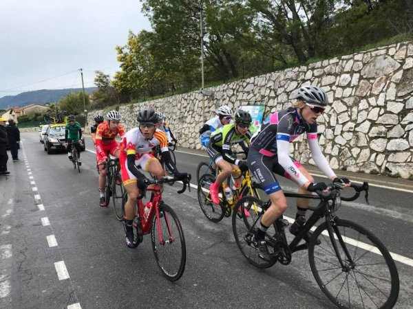 Carros(06).35° édition du Tour PACA Juniors.Souvenir Théo Conte.Nationale Juniors 1.14.2° étape du Tour PACA Juniors,Carros - Carros 106 km.Dimanche 18 mars 2018