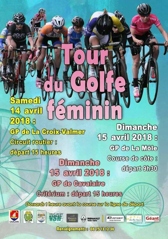 La Croix Valmer(83).Tour Golfe Féminin.1° étape Grand Prix de la Croix Valmer. Challenge Stamina.DAMES JUNIORS/SENIORS,MINIMES/CADETTES .Samedi 14 avril 2018