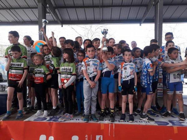 Albi(81).2° Manche du Trophée Occitanie du Jeune Cycliste.De prélicenciés à Minimes.Dimanche 15 avril 2018