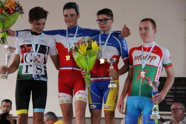 Boulogne sur Gesse(31).Championnat National Route Cyclosport UFOLEP.13/14 ans Féminines,13/14 ans Masculins, 15/16 ans Féminines,15/16 ans Masculins.Vendredi 13 juillet  2018