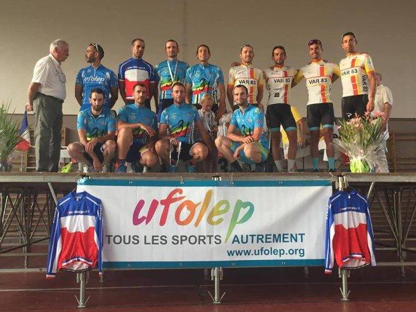 Boulogne sur Gesse(31).Championnat National Route Cyclosport UFOLEP. Masculin 17/19 ans,30/39 ans,50/59 ans,60 ans et plus.Samedi 14 juillet 2018