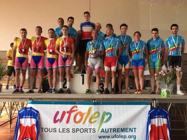 Boulogne sur Gesse(31).Championnat National Route Cyclosport UFOLEP Masculin 20/29 ans,Masculin 40/49 ans.Dimanche 15 juillet 2018