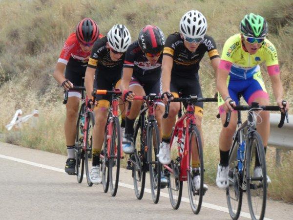 CASPE(Esp). XXXV Edición de la Vuelta Ciclista al Bajo Aragón Cadets 2018.4° étape CASPE - CASPE 56 km.Mardi 7 Août 2018