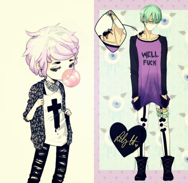 Pastel Goth#1 Les vêtements~
