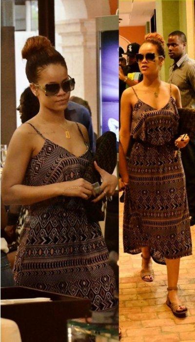 Rihanna en Barbade tres detendue