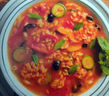 sauce turk avec courgettes et riz rond