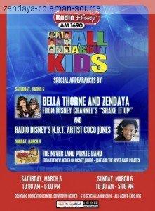 Zendaya et Bella seront chez Radio Disney le samedi 5 de 10h00 a 18h00 et le dimanche 6 Mars 2011de 10h00 a 17h00
