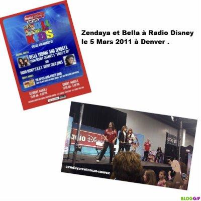 La 1ere image de Zendaya et Bella à Radio Disney .