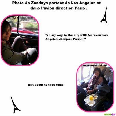 Zendaya partant de Los Angeles pour aller à PARIS !! On peut même voir que notre belle Zen à appris quelque mots en francais =D