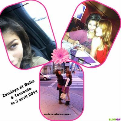 Nouvelles photos de Zendaya et Bella à Tonronto le 3 avril 2011
