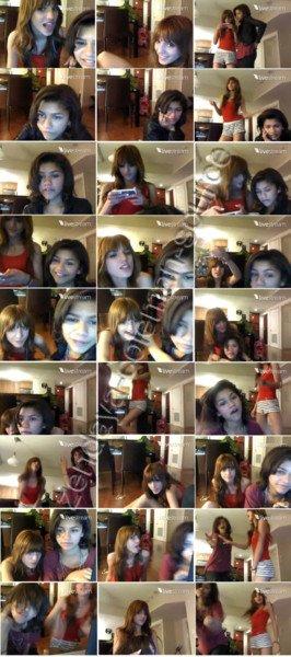 Photos d'un vidéo chat de Zendaya et Bella datant d'hier .