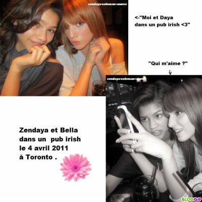 Photo de Zen et Bella dans un pub irish le 4 avril 2011 à Toronto .