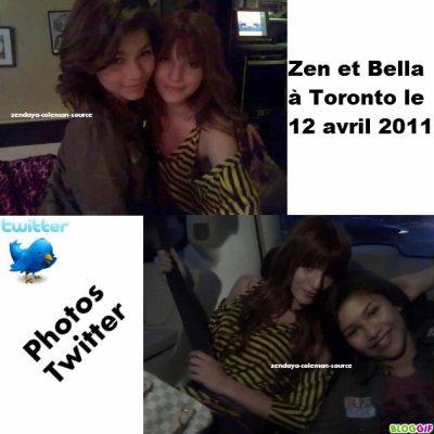 Zen et Bella à Toronto le 12 avril 2011 .