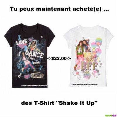 """Tu peux maintemant acheté(e) des t-shirt """"Shake It Up"""" pour $22.00"""
