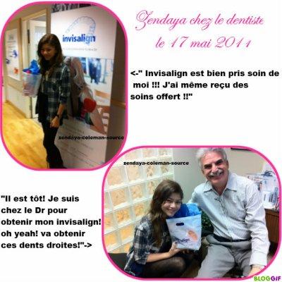 Nouvelles photos de Zendaya chez le dentiste et avec son père , elle à écrit : Le team Zendaya arrive !!
