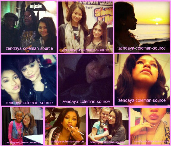 "Nouvelles photos Instagram et Twitter de Zendaya et des photos de Zendaya sur le set de ""Shake It Up"" ."