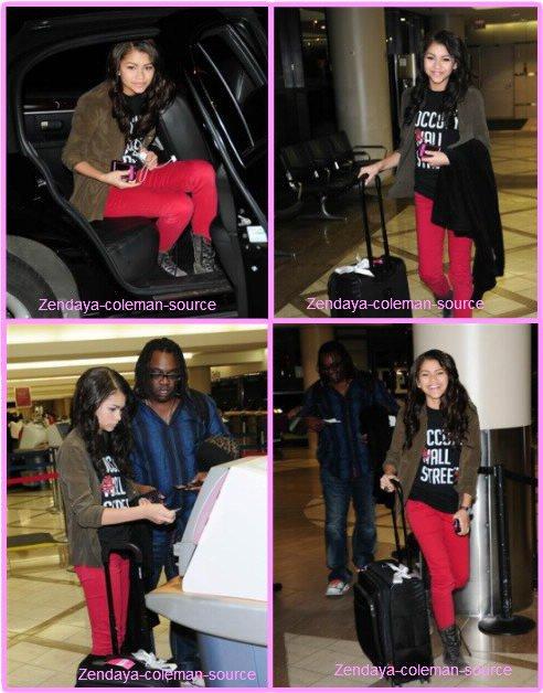 Zendaya à été aperçu prenant l'avion à l'aéroport de LAX le 27 janvier 2012 . Côté tenue : c'est un TOP pour moi , j'adore toute la tenue de Zendaya . Et pour vous TOP ou FLOP ?