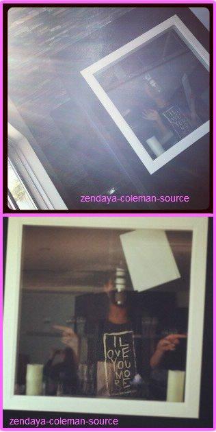 Zendaya en studio d'enregistrement hier 23 février 2012 + Une nouvelle photo d'un photoshoot de Zendaya réalisé l'année dernière .
