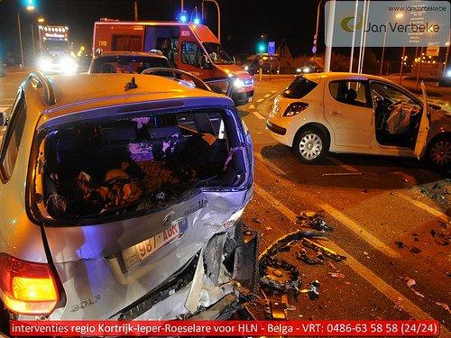 08/03/12 Pittem: Heavy collision par l'arrière