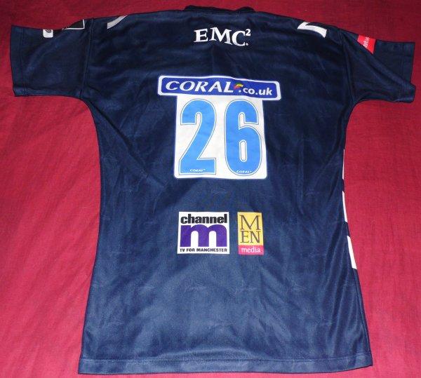 Maillot de match des Sale Sharks N°26 porté saison 2007/2008