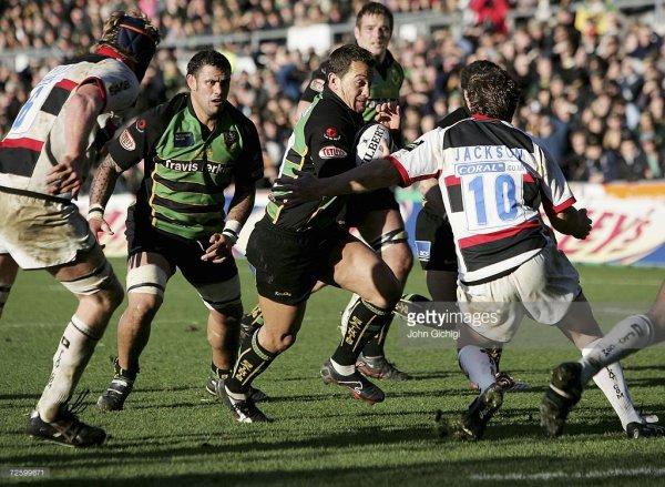 Maillot de match de Northampton Saints N°22 porté contre les Saracens le 18 Novembre 2006