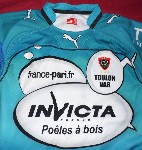 Maillot de match de Toulon N°4 porté saison 2010/2011