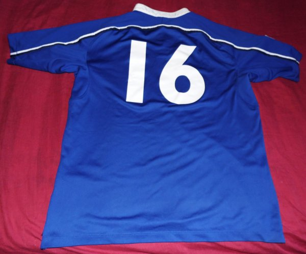 Maillot de match du XV de France -21 N°16 porté en finale de la Coupe Du Monde 2006 par Guilhem Guirado contre l'Afrique Du Sud le 25/06/2006