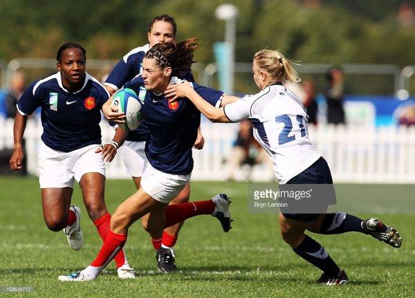 Maillot de l'équipe de France féminine N°21 porté lors de la Coupe Du Monde 2010