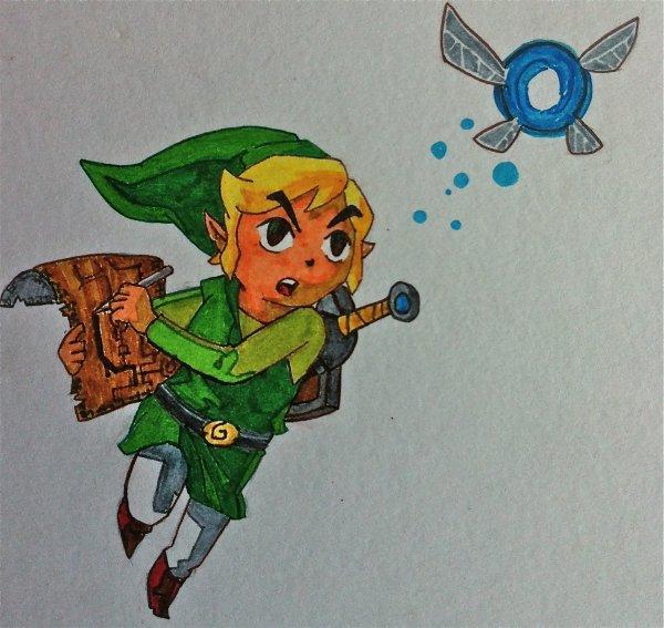 Dessin LINK de Zelda Phamtom Hourglass