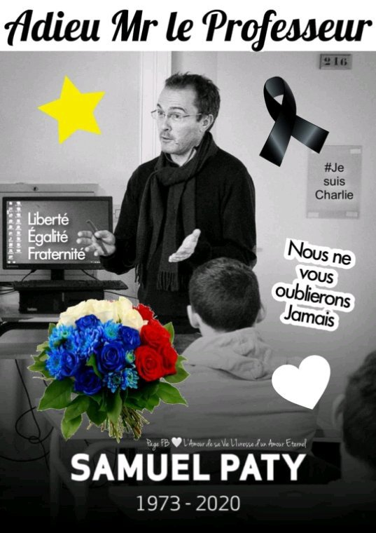 On ne vous oubliera pas                     🙏 #samuelPaty