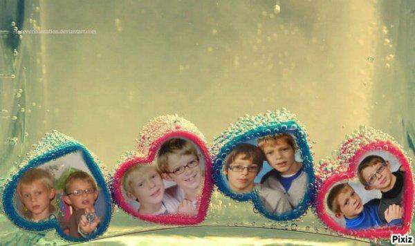 mes enfants que j'aime de tout mon coeur